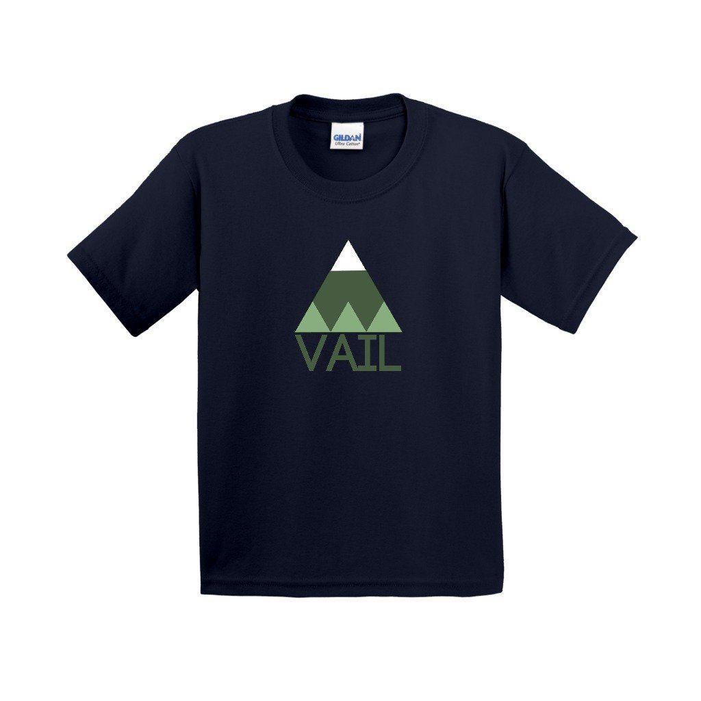 Vail Minimal Mountain - Colorado Youth T-Shirt