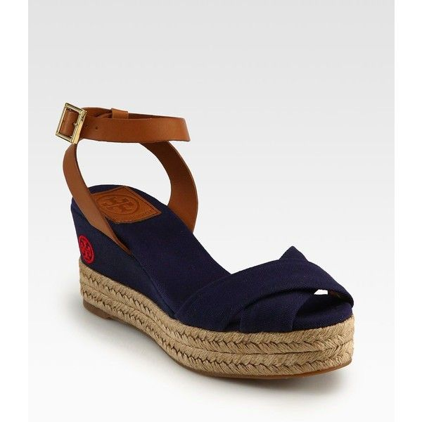 Tory Burch Leather Espadrille Wedges recommend cheap online sale online shopping WdYqM