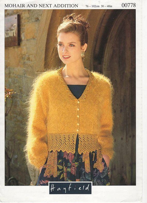 Ladies Mohair Cardigan Mohair Knitting Patter Mohair Wool 80s