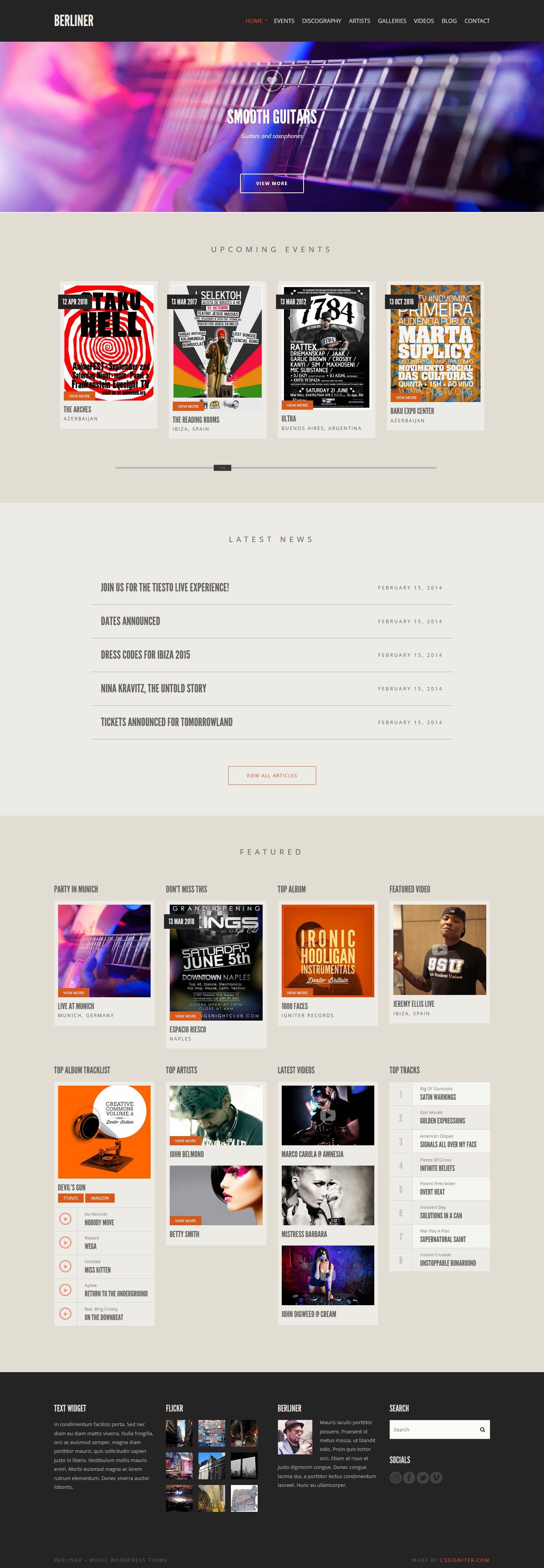 Berliner from CSSIgniter - a beautiful wordpress theme. | Best ...