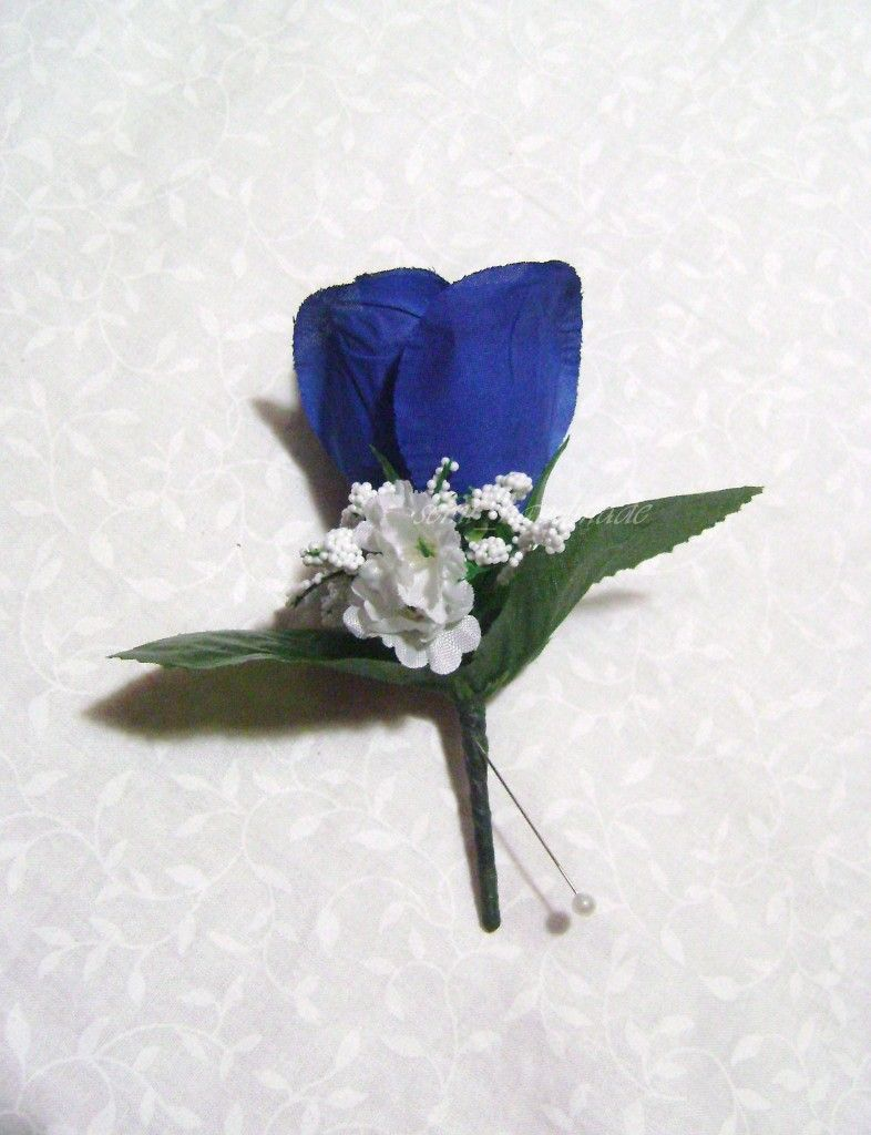royal blue and dark grey corsage google search prom
