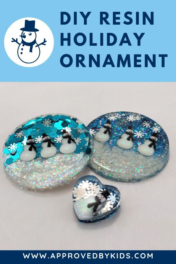 Photo of How to make a ADORABLE Snowman Holiday Ornament with resin. Resin crafts are so …