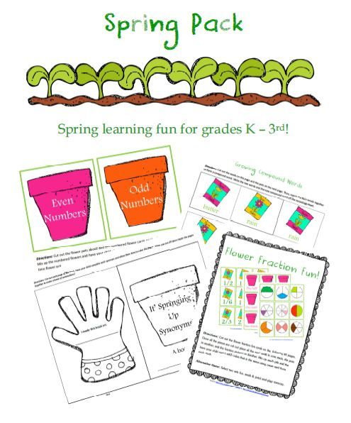 Free Worksheets: Spring Learning Fun Printable Pack For Grades K – 3rd  (31-Pages) Spring Preschool, Fun Learning, Spring Worksheet
