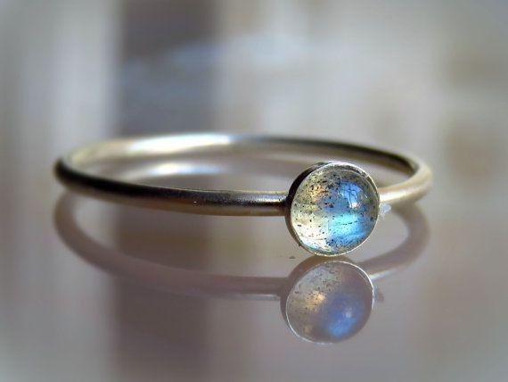 gemstone ring,silver ring,Labradorite ring,rectangle ring,silver stack ring,stacking stone ring