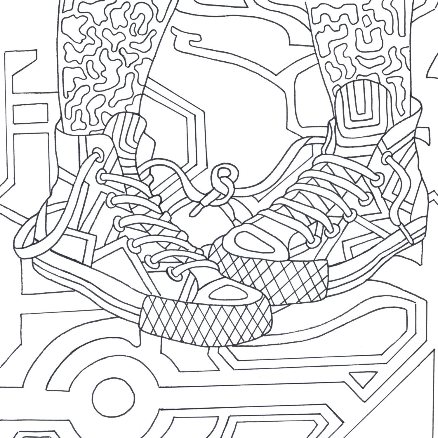 Coloring pages furniture - Printable Coloring Page Zentangle Dance Coloring Book