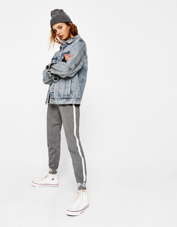 Spodnie Joggery Z Napisem New Bershka Poland Fashion Teenage Clothes For Women Women