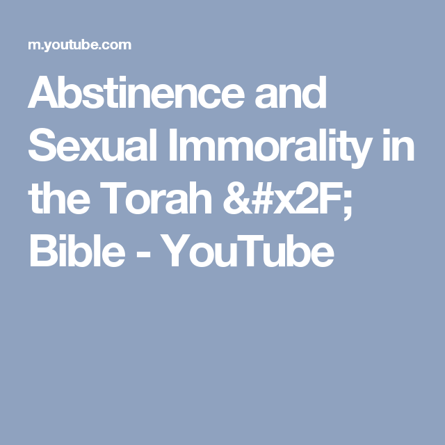 Abstain from sexual immorality verses