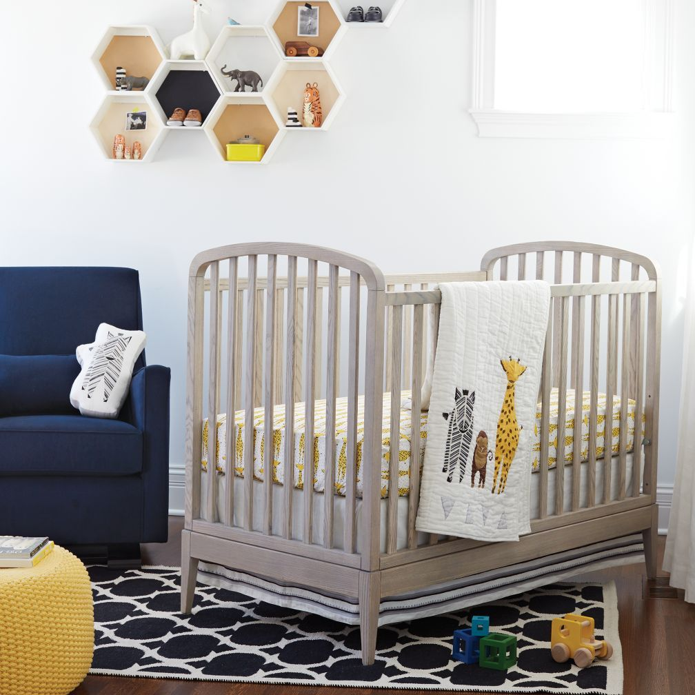 Archway Grey Rustic Crib + Reviews Crate and Barrel