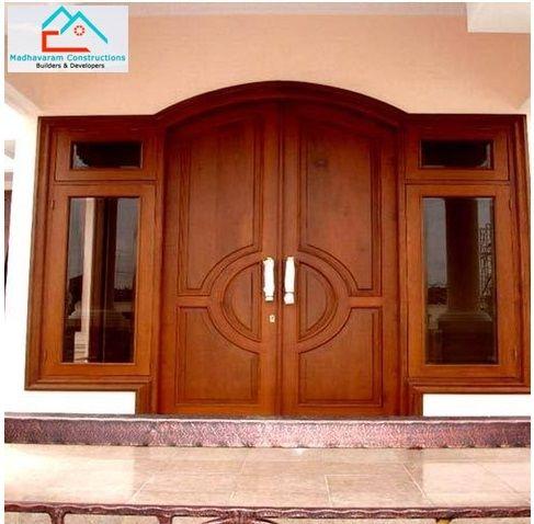 Doors windows teak wood frame for main door with skin for Teak wood doors