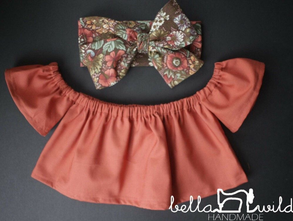 05e26cebed2c8 the Bella top    off the shoulder top    baby top    toddler
