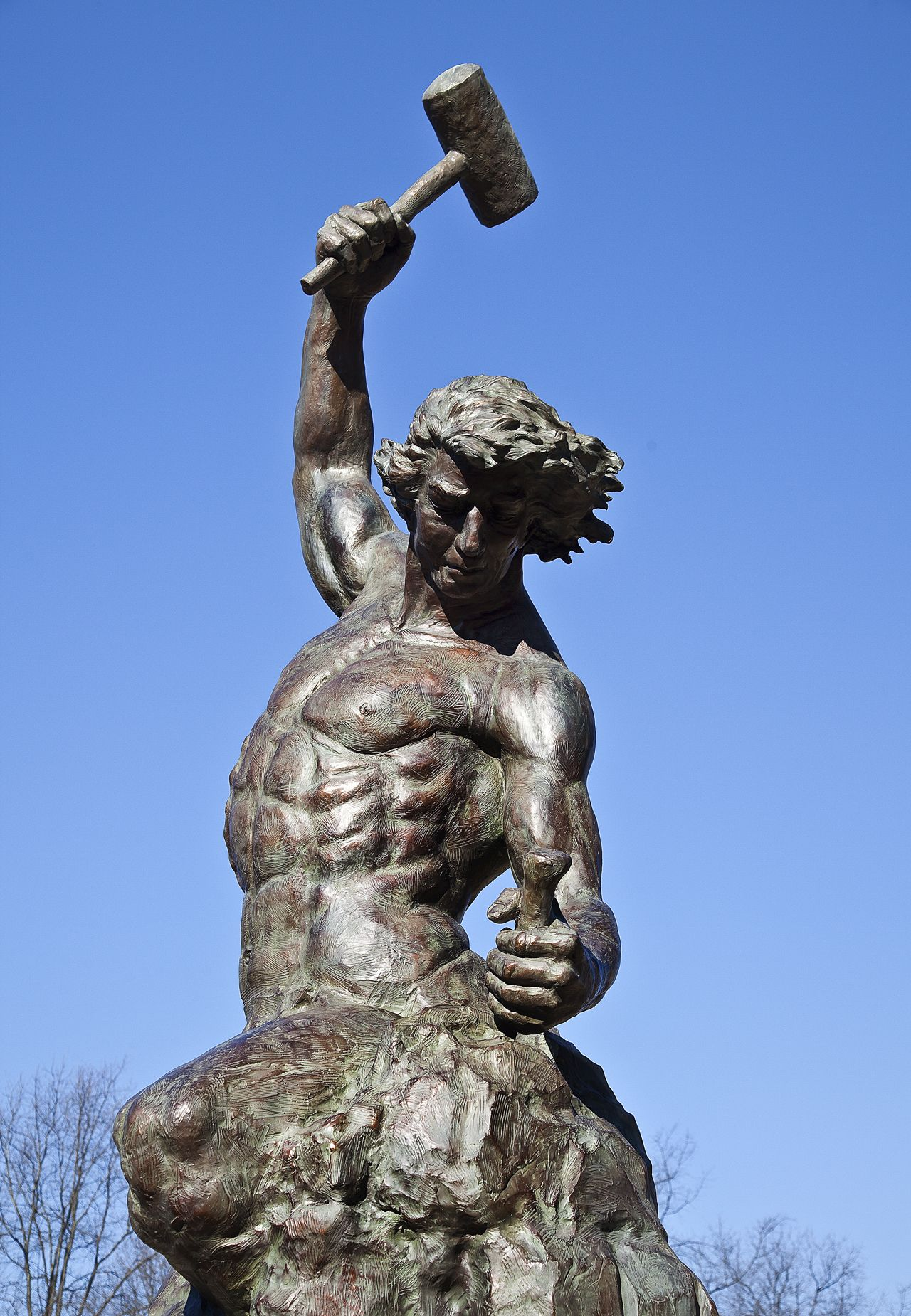 Self made Man statue UNC Charlotte Campus | Destination Charlotte ...