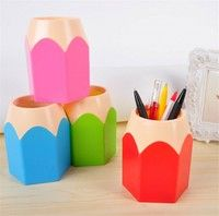 Wish | Popular Creative Pen Vase Pencil Pot Makeup Brush Holder Stationery Desk Tidy New Design Container Gift  # laixudong #
