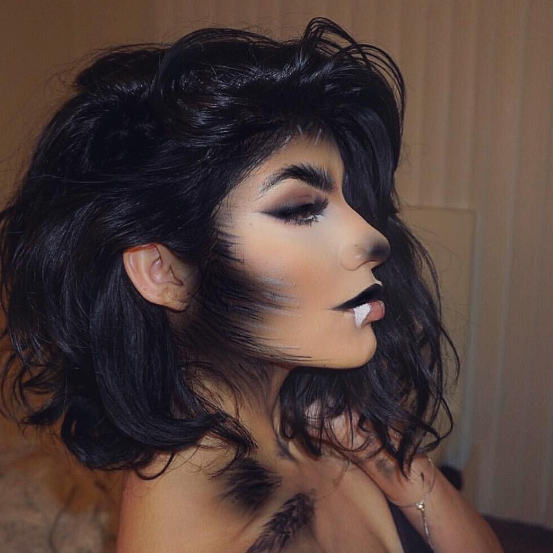 "Slaying Society ™ on Instagram: ""SHE WOLF🐺 by @makeupby_rubina 😍 #halloweenmakeup #wolfgirl #wolf #halloween #makeup #makeupjunkie #makeupartist #love #undiscovered_muas…"""