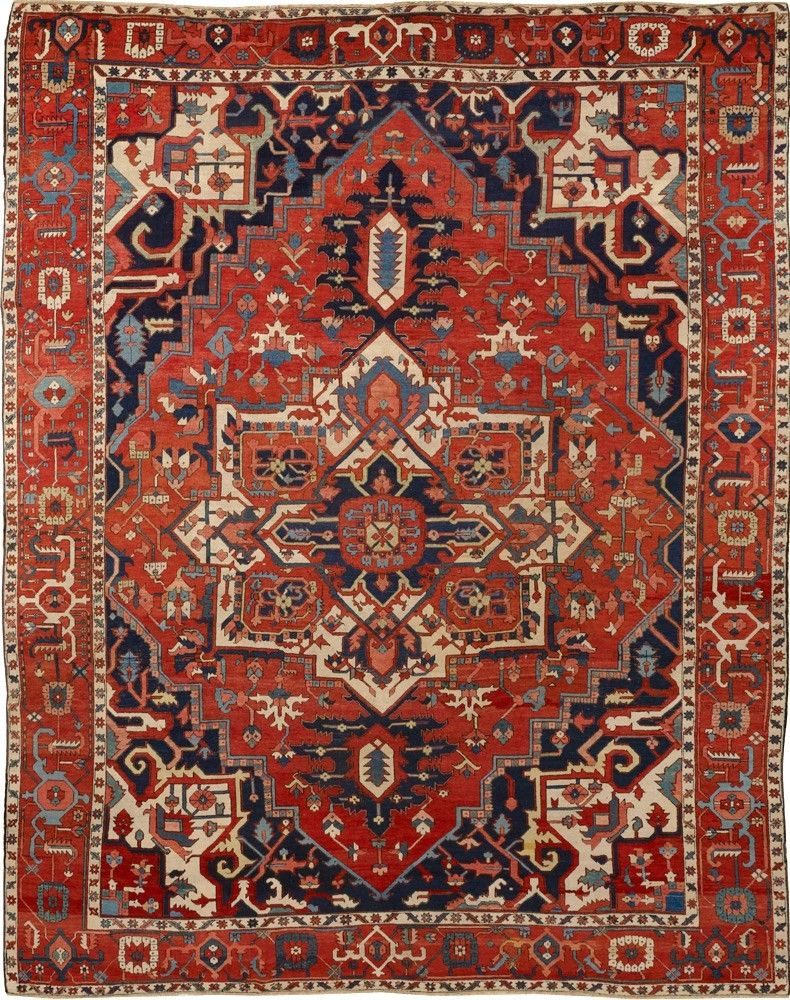 Persian Heriz Serapi Rug Rugs On Carpet Red Oriental