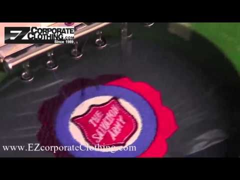 Embroidery In Action Youtube Logo Embroidered Salvationarmy