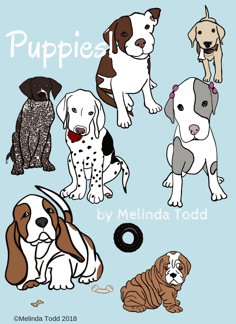 FREE Puppies Coloring Book! 11 pages of puppies to color! Enjoy ...