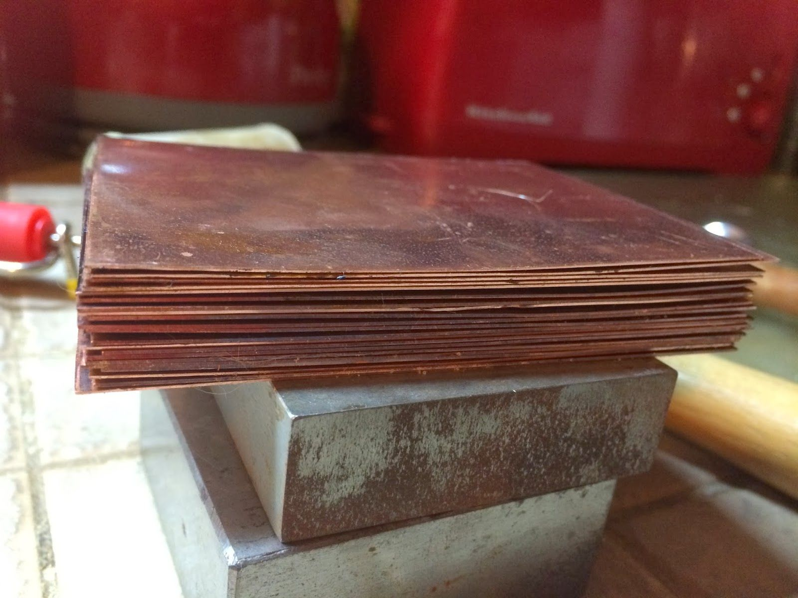 Deborhread Com Flattening And Cleaning Copper Sheet For Etching How To Clean Copper Copper Sheets Copper