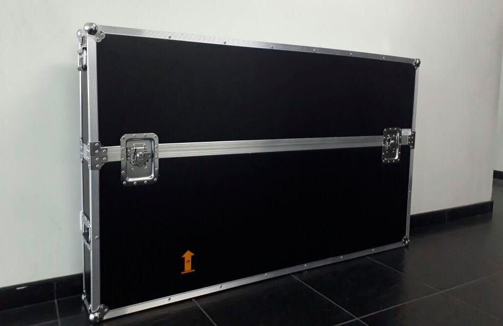 Rack estuche para transporte de televisores led lcd plasma