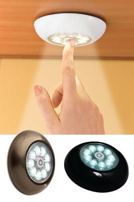 Superbrite Touch Light, Tap Light, Stick On LED Light | Solutions...for  Guest Room Closets Maybe??
