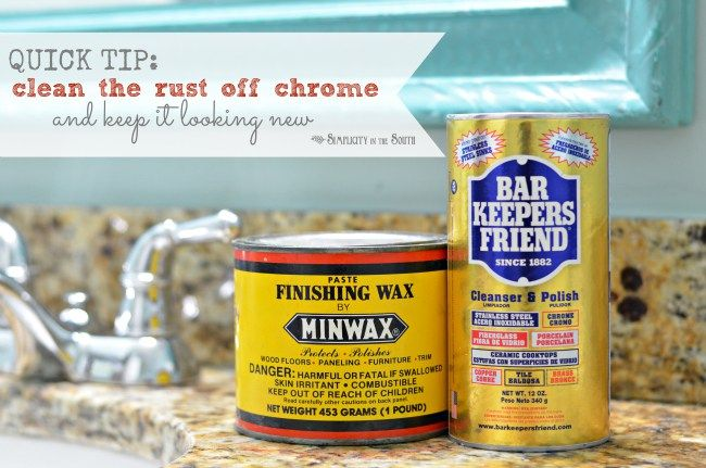 Simple Cleaning Trick How To Remove Rust From Chrome In The - How to remove rust from chrome bathroom fixtures