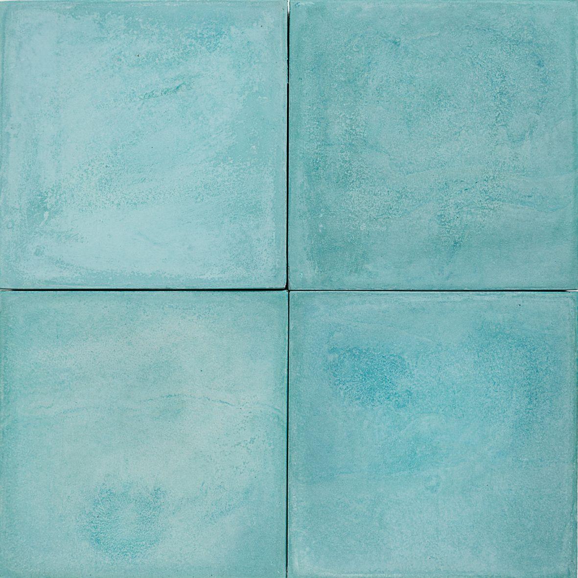 Bathroom tiles blue colour - Cement Encaustic Tile Colour Turquoise 4