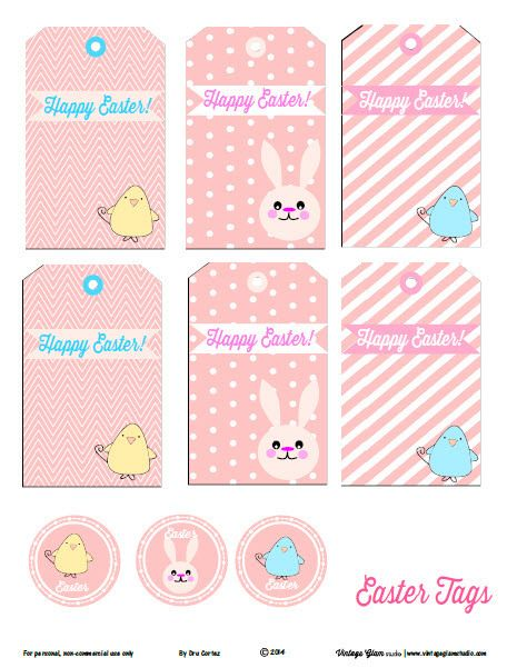 Free printable download easter tags papel negle Images