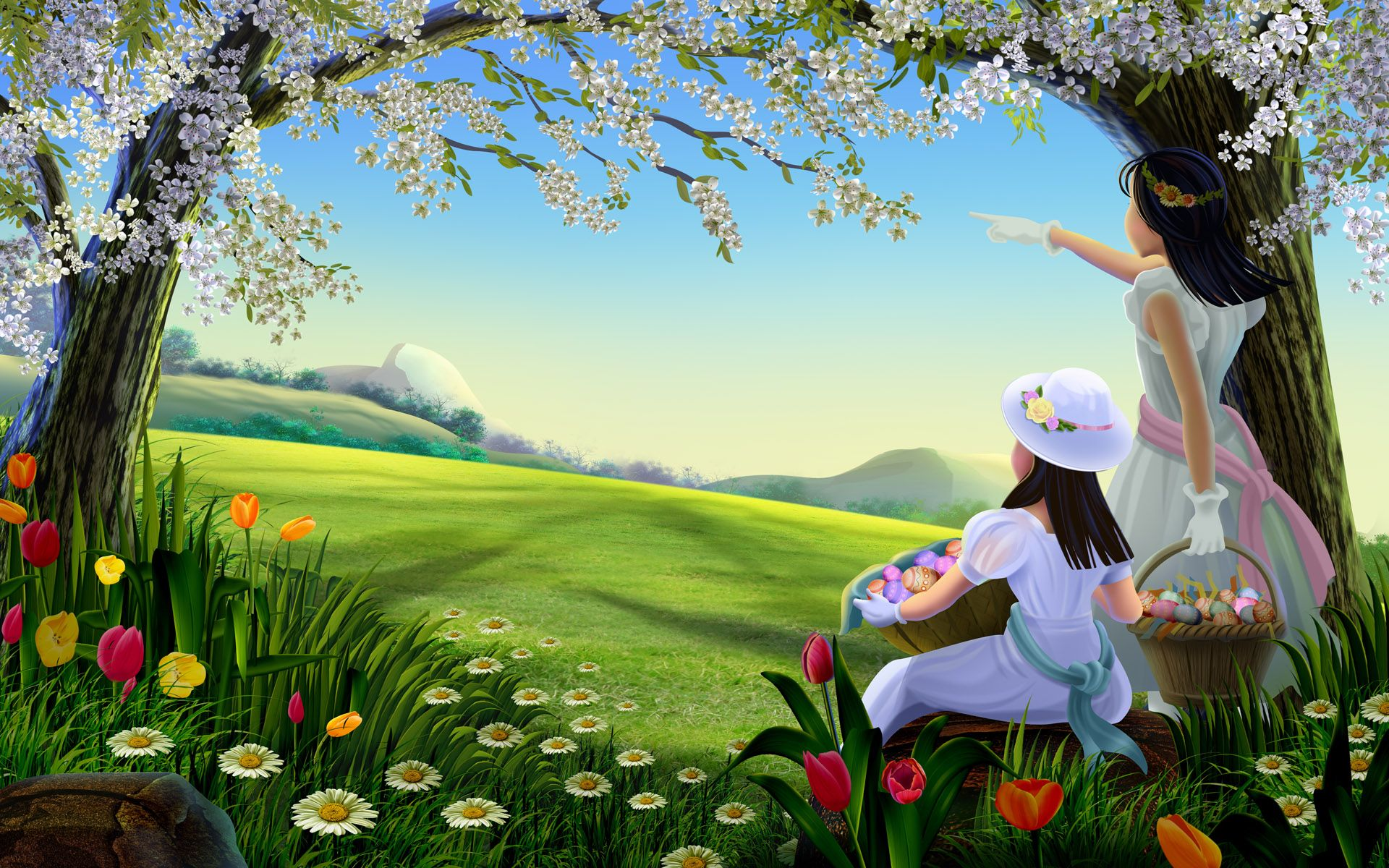 Fairy Tale Natural Full Hd Cartoon Wallpapers Free Download