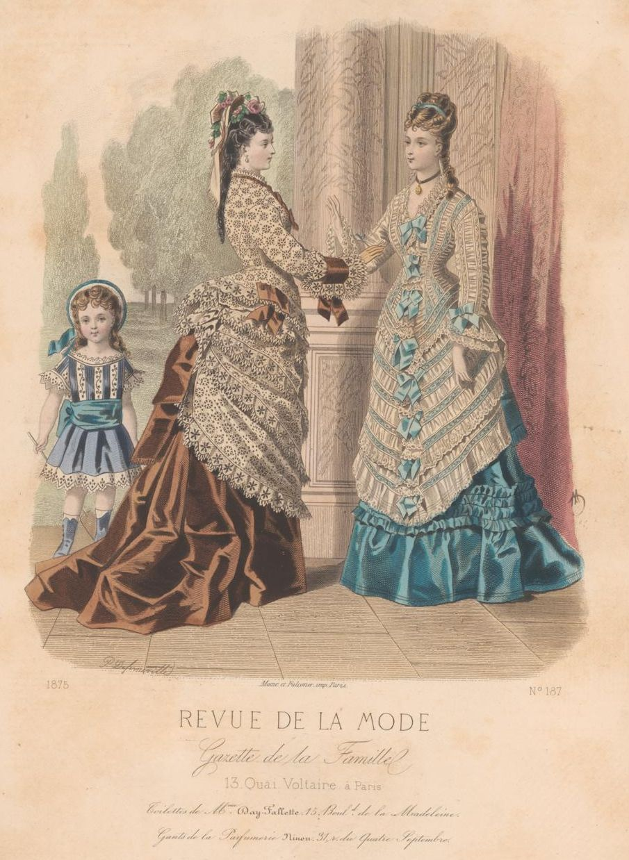 revue de la mode 1875 1875s fashion plates pinterest bustle victorian and bathing costumes. Black Bedroom Furniture Sets. Home Design Ideas