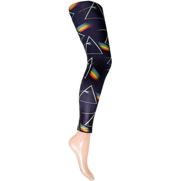 bfce3a1c302a8 Pink Floyd Dark Side Of The Moon Leggings (Multi) (€22) ❤ liked on Polyvore  featuring pants, leggings, dark pants, legging pants, rock pants, blue  leggings ...