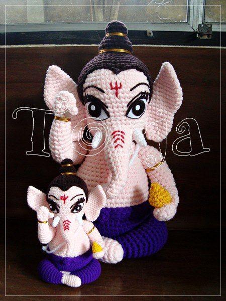 พระพิฆเนศปางเด็ก  ๒๐ นิ้วและ  ๙ นิ้ว Crochet Ganesh