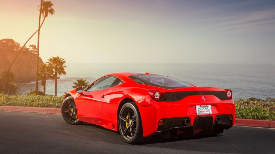 Red Ferrari Fastest Race Car Wallpaper For All Screens