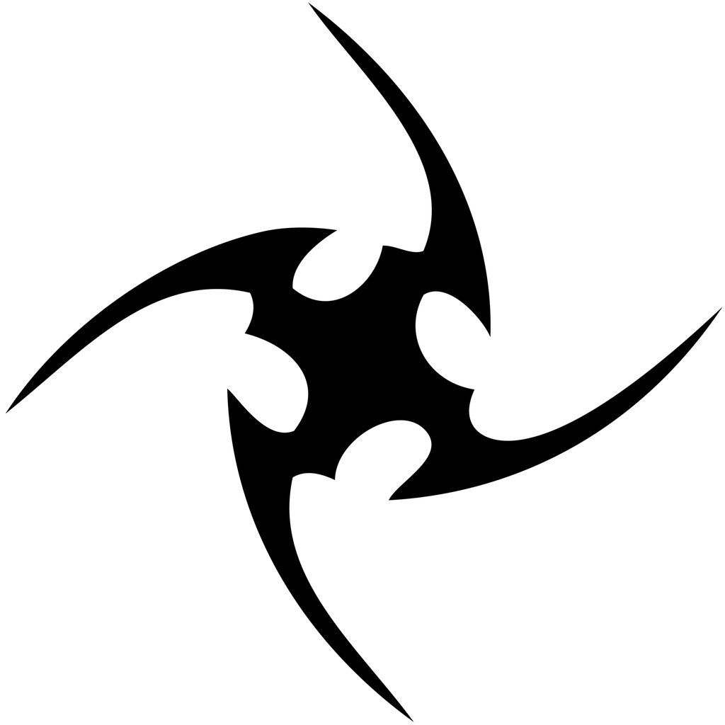 Tribal Shuriken Tattoo Graphic Totem Tattoo Tribal Design