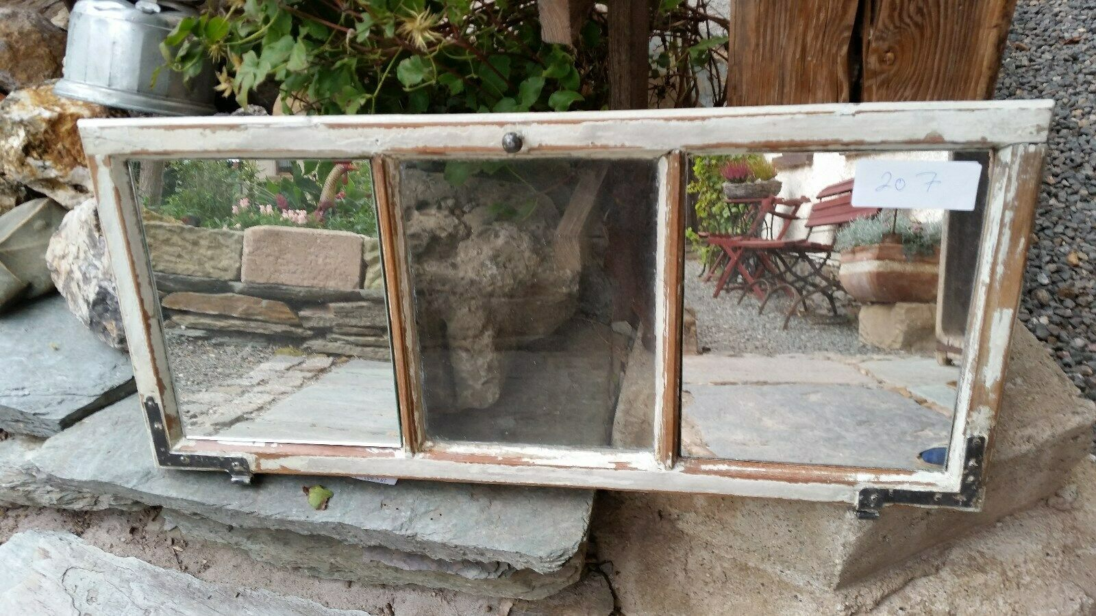 Altes Holz Fenster Spiegel Sprossenfenster Wandspiegel Holzfenster