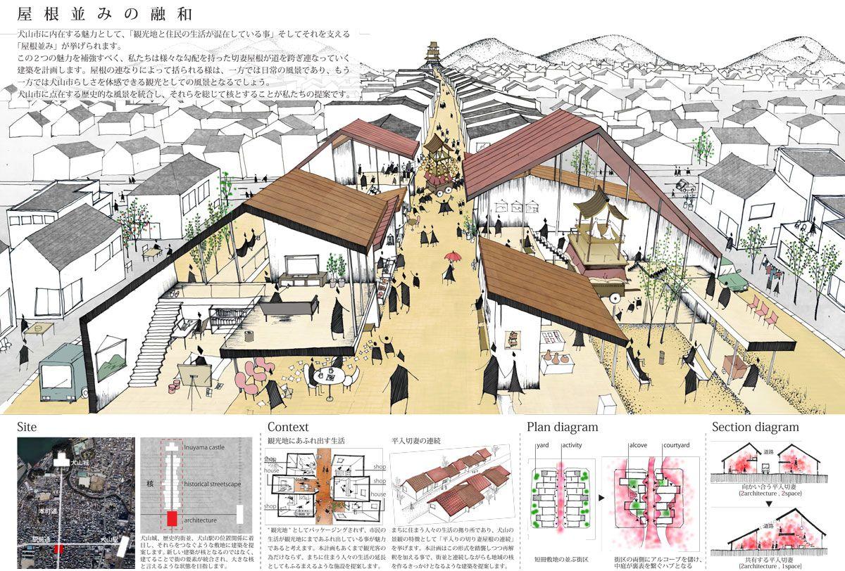 愛知建築士会 第8回学生コンペ もっと見る 建築見取り図