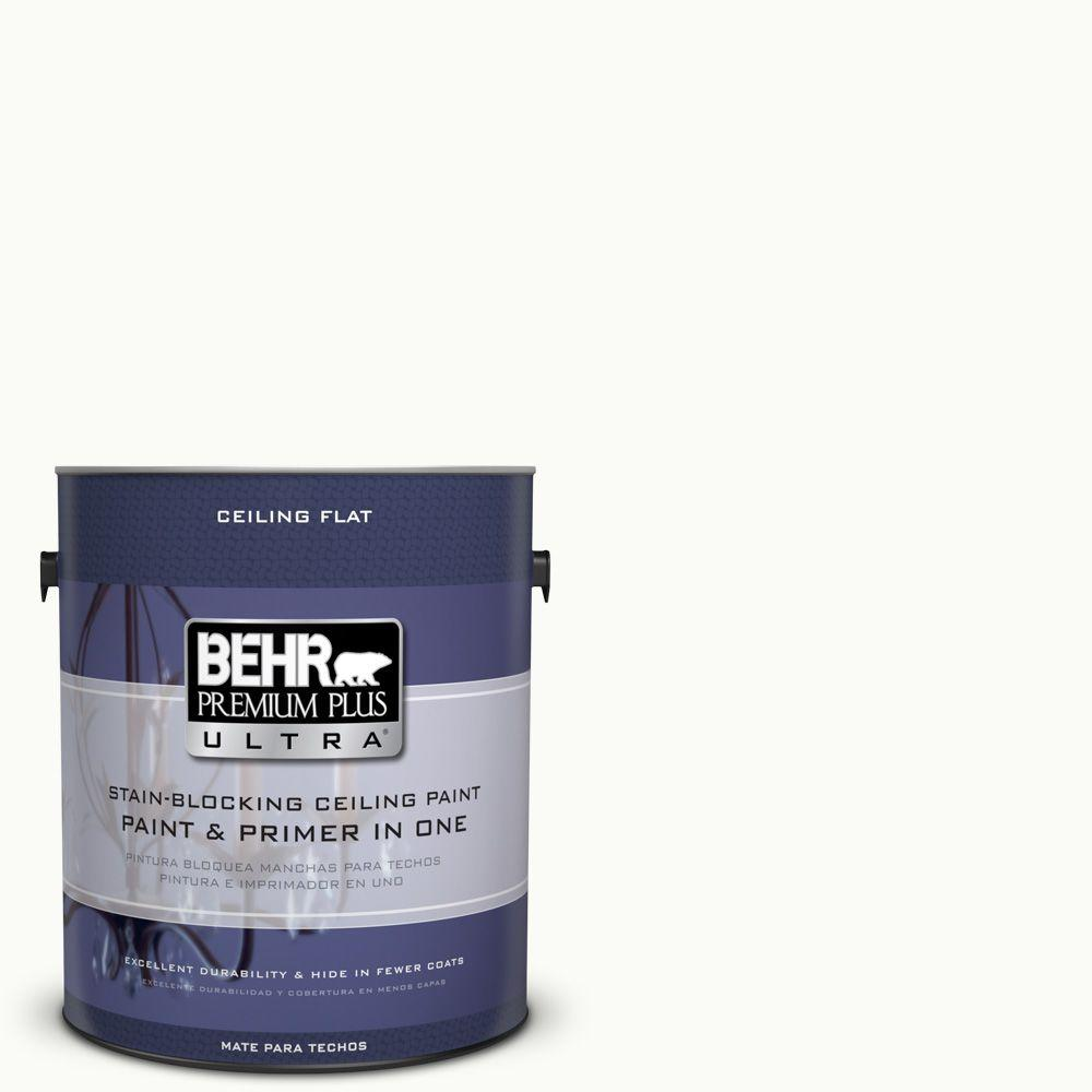 Behr Ultra 1 Gal Ppu18 6 Ultra Pure White Ceiling Flat Interior