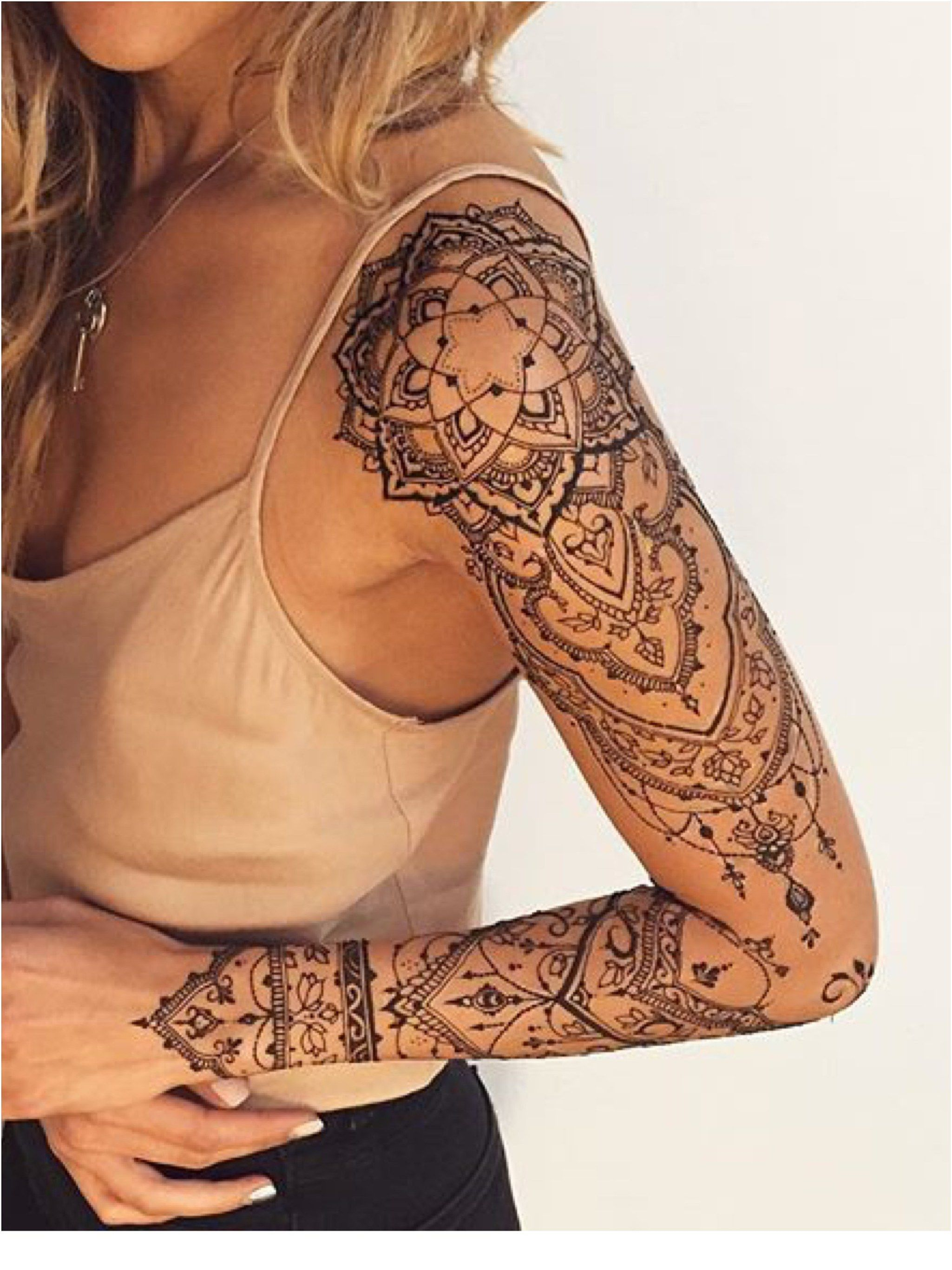 Inner Thigh Tattoos Female Tribal Skull Tattoos Sleeve border=