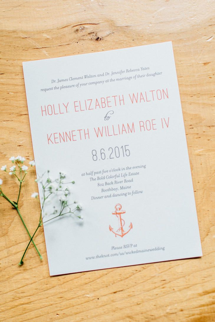 Anchor Wedding Invitations | JAMIE MERCURIO PHOTOGRAPHY | PAPERSOURCE | http://knot.ly/6498BxviO