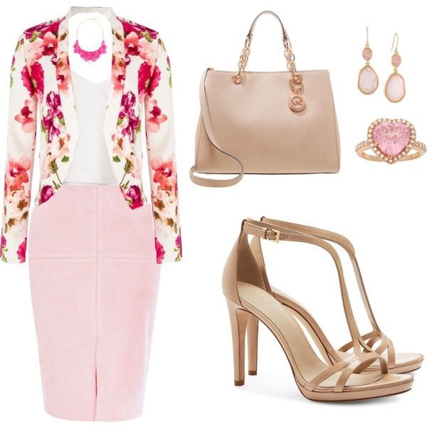 Pink Jewelry by tania-alves on Polyvore featuring polyvore, moda, style, Quiz, River Island, Tory Burch, MICHAEL Michael Kors, Carolee and George J. Love