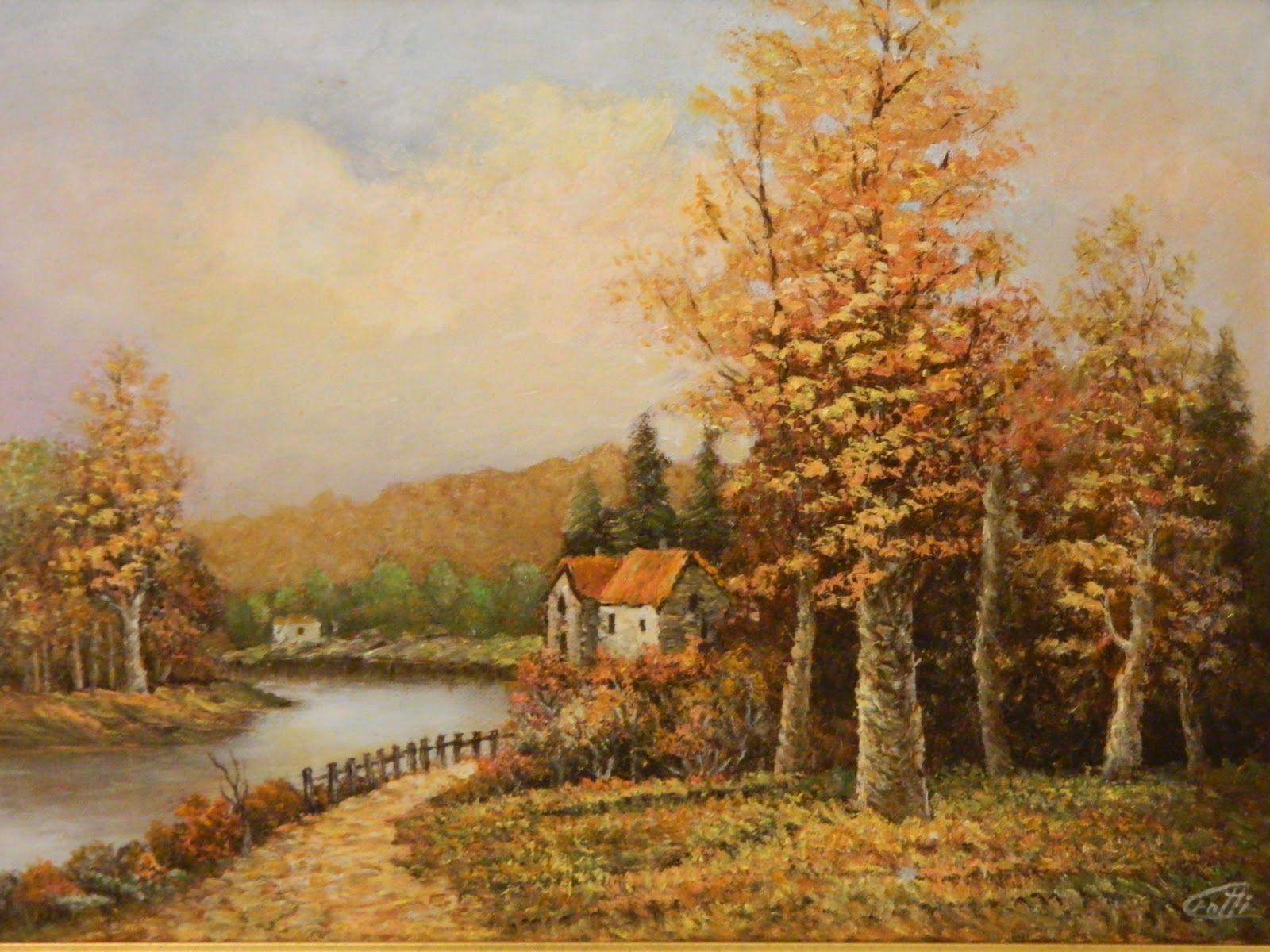 Dipinti Paesaggi Autunnali Francy Pinterest