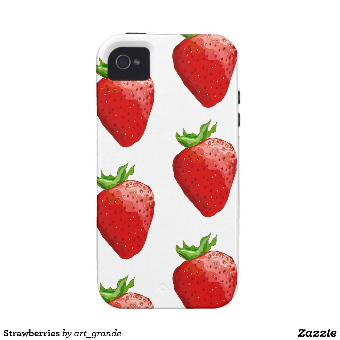 Strawberries Case-Mate iPhone 4 Covers