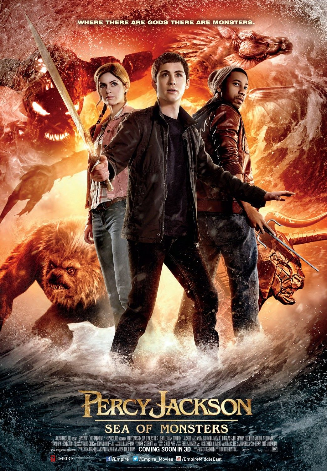 Percy Jackson Sea Of Monsters Extra Large Movie Poster Image Internet Movie Poster Awards Gallery Percy Jackson Film Percy Jackson Horrorfilme