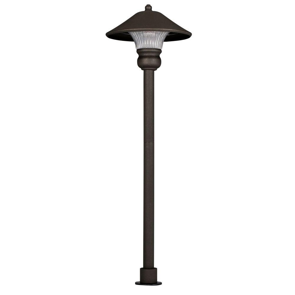 Hampton Bay Pathway Lights Best Hampton Bay Lowvoltage Bronze Outdoor Integrated Led Path Light Review