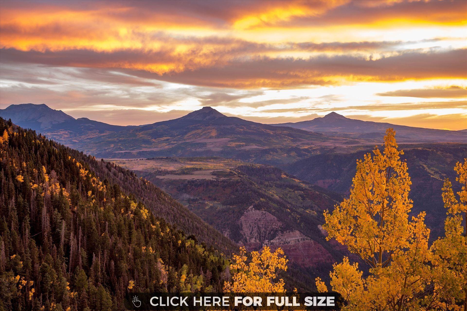 Sunset From Last Dollar Road Near Telluride Colorado