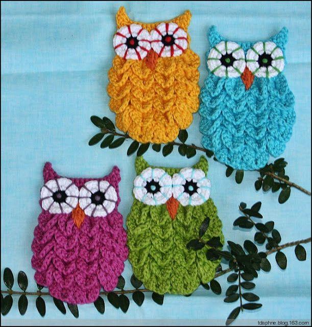 Buhos tejidos a crochet patrones - Imagui   CROCHET   Pinterest ...