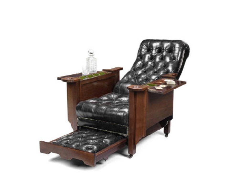 early 20th century mahogany glenister s patent reclining gaming