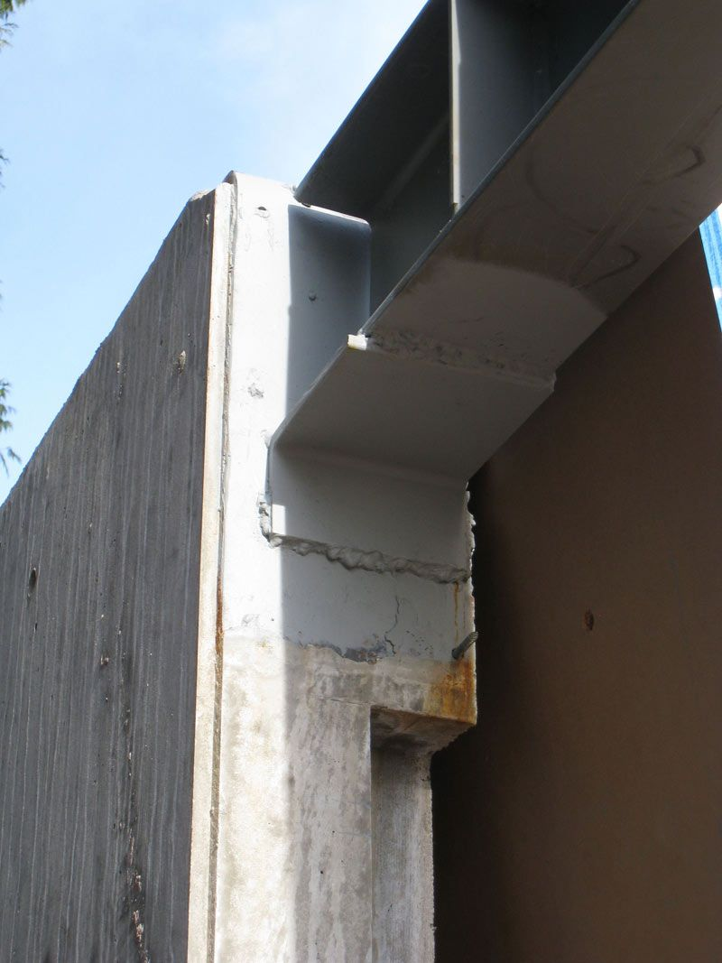Connection Between Steel Beam And Concrete Wall Steel у
