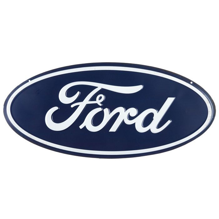 Ford logo embossed oval tin signopen road brands back alley ford logo embossed oval tin signopen road brands voltagebd Gallery