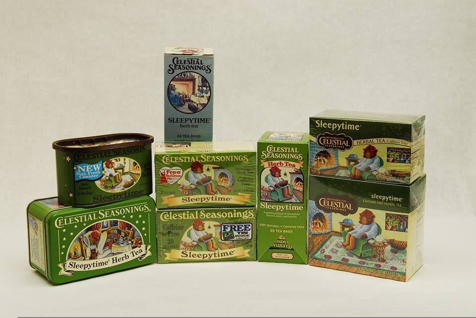#ThrowbackThursday: The evolution of the Sleepytime Herbal Tea artwork!