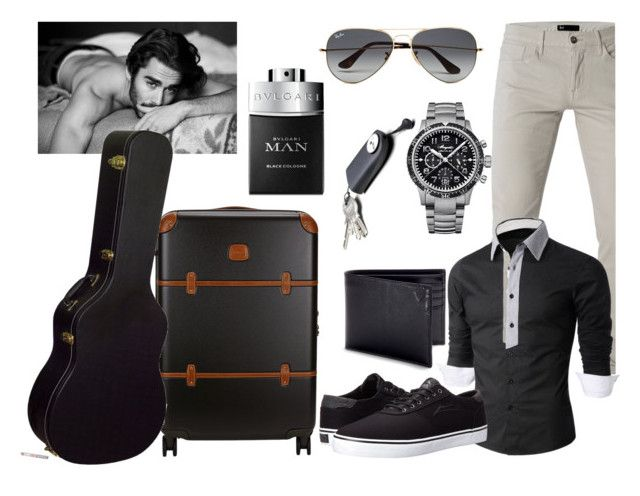 That man... by art-soul-fanfic on Polyvore featuring 3x1, Lakai, Breguet, Ray-Ban, Bric's, Aspinal of London, Bulgari, men's fashion and menswear