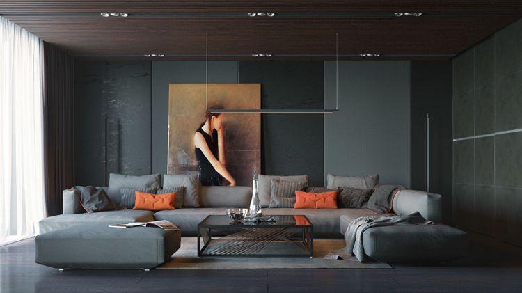 Bilder für Wohnzimmer -modern-minkmalistisch-kunstbild-portrait ...